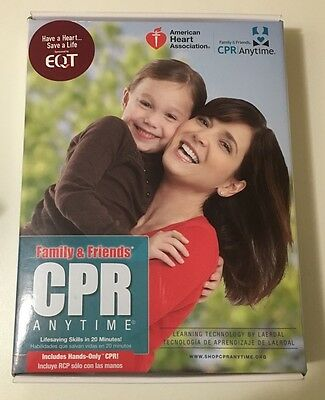 NEW Family & Friends CPR Anytime Training  & DVD Kit~Spanish & English