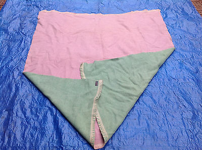 Rare Antique Double Sided Pink/Green Pendleton Blanket 1921 Label