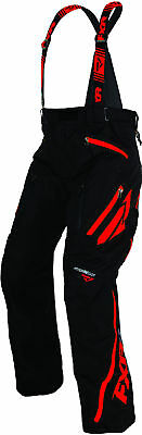 FXR Mens Black/Red Mission X Insulated Snowmobile Pants Snow Snocross