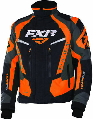 FXR Mens Black/Orange/Charcoal Team FX Insulated Snowmobile Jacket
