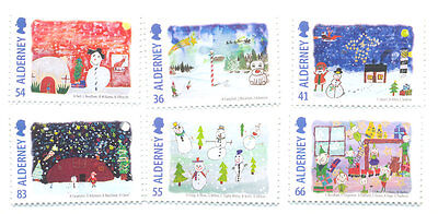 Alderney-2014 Christmas set mnh