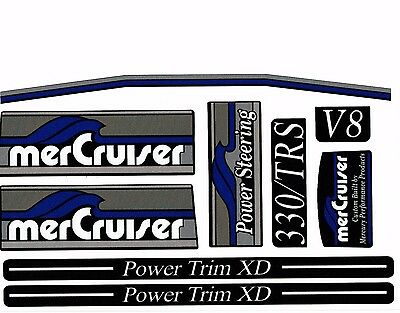Mercruiser The New For 2016 Most Complete Trs Blue Decals Set W/rams Sticker Set