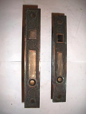 Antique Eastlake Victorian Era Double Pocket Door Lock #18