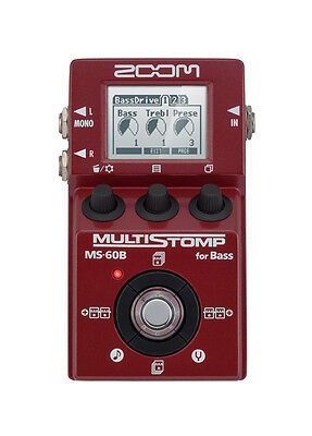 Zoom MS 60B Multistomp Bass Guitar FX Pedal Chorus Delay Reverb Effects MS60