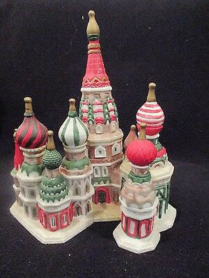 vintage1992 porcelain christmas church onion dome of Russia beautiful  and rare