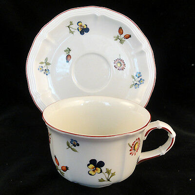 PETITE FLEUR Villeroy & Boch Cup & Saucer NEW NEVER USED made in Luxembourg