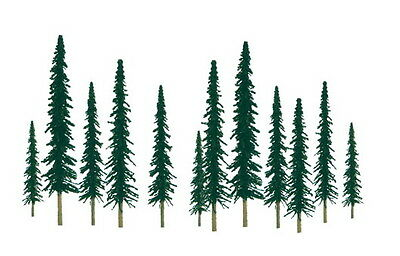 "JTT SCENERY 92009 SUPER SCENIC CONIFER TREES 1"" to 2""  Z-SCALE 55/PK  JTT92009"
