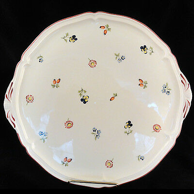 """PETITE FLEUR Villeroy & Boch CAKE PLATE ROUND 12.5"""" NEW Luxembourg"""