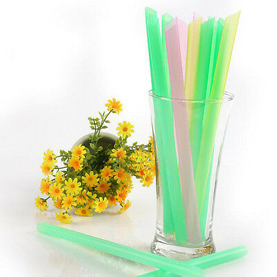 33PCS Bubble Tea Fat Dringking Plastic Party Smoothies Jumbo Thick Drink Straws