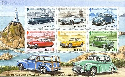 Jersey-Classic Cars(pane no.2)mnhMin sheet ex booklet