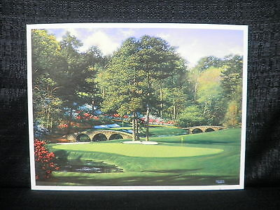 Larry Dyke Hole 11 At Augusta National Masters Golf Lithograph