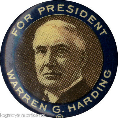 Classic 1920 Warren G. Harding for President Campaign Button (2043)