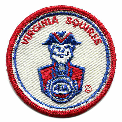 "1971-74 Virginia Squires Aba Basketball Vintage 3"" Round Team Logo Patch Rare"
