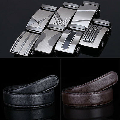 New Fashion Stylish Men's Belt Leather Waist Strap Belts Automatic Buckle Tops