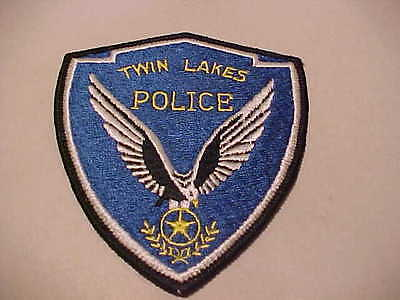Twin Lakes  Wisconsin  Police Patch Shoulder Size