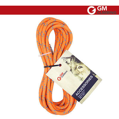 8mm Double Braid Accessory Cord Rope for Rappelling Prusik Loop Safety Orange