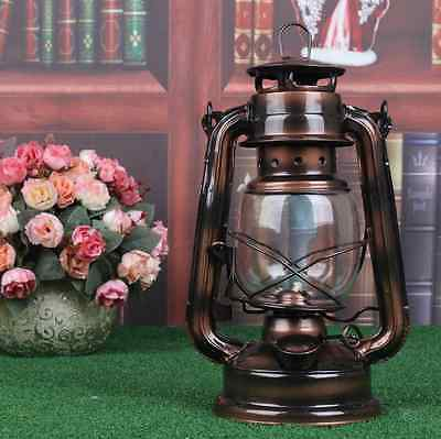 Vintage Bronze Copper Oil Lamp & Barn Railroad Kerosene Light  For Family Garden