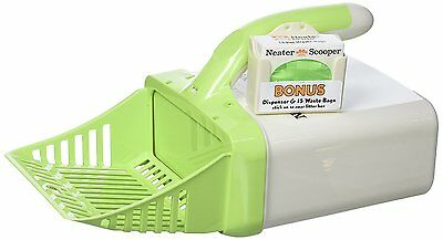 Cat Litter Scoop Neater Scooper Pet Waste Bag System Easy Scooping Tool Green