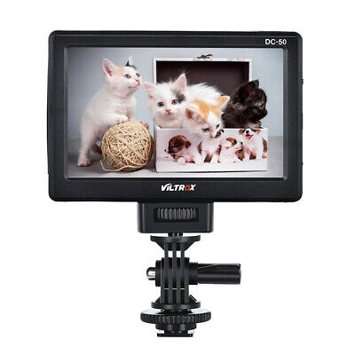 "VILTROX DC-50 5"" Inch Clip-On Color TFT HD LCD DSLR Camera Monitor Display U7S7"