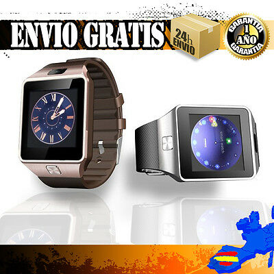 Bluetooth RELOJ INTELIGENTE SMART WATCH DZ09 Cámara de video Barómetro Podómetro