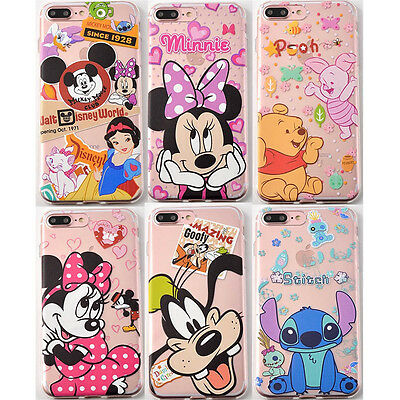 Cute Cartoon 14 Patterns Soft TPU Silicone Back Case for Apple  iPhone 7 7Plus