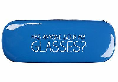 Happy Jackson 'Has Anyone Seen My Glasses' Blue Hinged Protective Hard Case