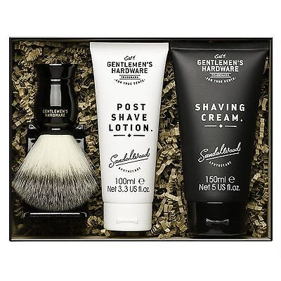 Gentlemen's Hardware Shaving Kit with Shave Cream Lotion Brush