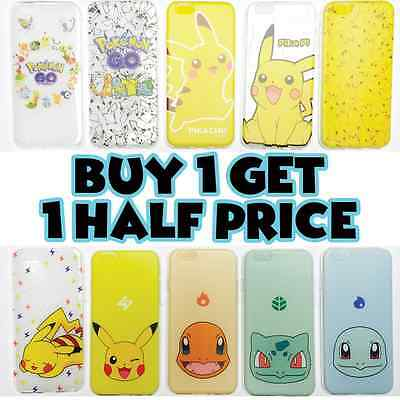 New Pokemon Go Pikachu Soft TPU Cases Covers for iPhone 7 Plus 6 6s Plus 5s 4s 4