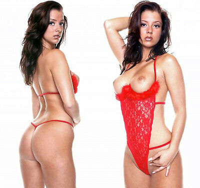 Dessous Body Rot Spitzenbody Sexy Teddy Stringbody Hebe  Erotic Lingerie  Gr. L