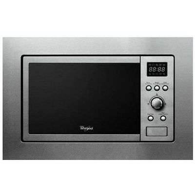 WHIRLPOOL AMW140IX Build-In Black Kitchen Microwave Grill 20L 800W Free Delivery