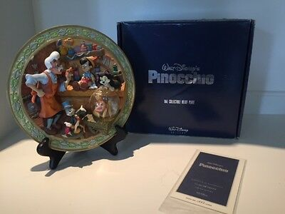 Disney 3D Pinocchio Collectable Plate