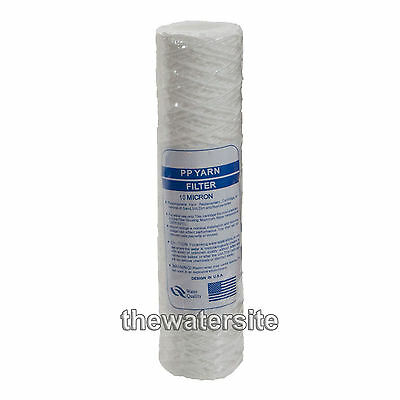 "10"" Bio-Diesel Vegetable Oil Wound Particle Filters 10 Micron Pack Of 1"