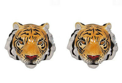 Collectable Novelty Salt & Pepper Set TIGER HEADS Kitchen FREEPOST NEW