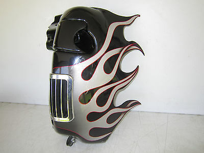 Harley Davidson Touring Lower Fairings w/ Molded Fiberglass Flames and Fog Light