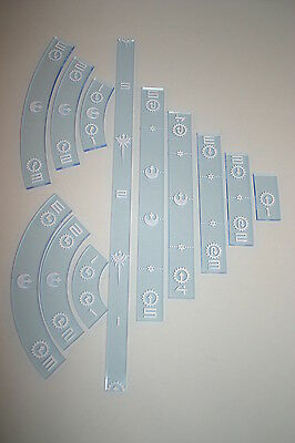 X-Wing Miniatures Accessory Ruler Set Rebel Blue x 12 by Cog O Two 1st Edn