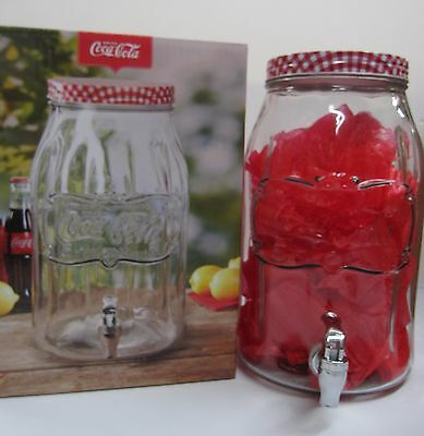 Coca-Cola Large Glass Jar and Dispenser - HOLDS 2 GALLONS!