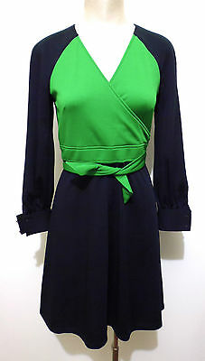 SELENE VINTAGE '70 Abito Vestito Donna Bicolor Jersey Woman Dress Sz.S - 42