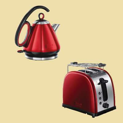 Russell Hobbs Set Legacy Red Wasserkocher 21281-70 + Toaster 21291-56 - rot/sw.