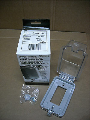 "NEW Leviton 5977-CL Clear Outdoor Weather Resistant ""While in Use"" Outlet Cover"