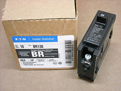 NEW Cutler Hammer BR130 CL130 Circuit Breaker 30 Amp 1 Pole 120/240 Volt
