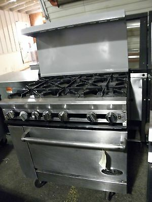 Dcs 36-6-1Cl Six Burner Nat Gas Range With Full Size Convection Baking Oven