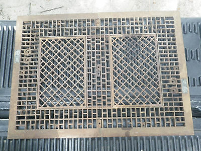 "Antique Vintage Ward Cast Iron Floor Furnace Grate  38 3/4"" X 28 3/8"""