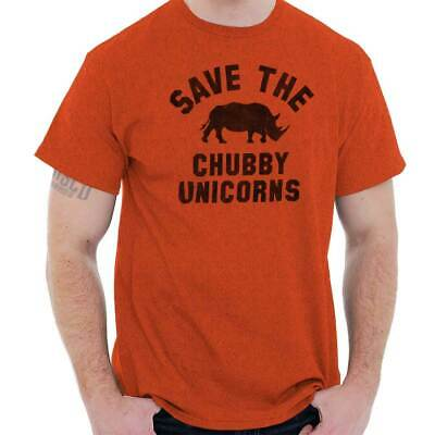 Save The Chubby Unicorns Fashion Rhino Hipster Geek Funny T-Shirt Tee