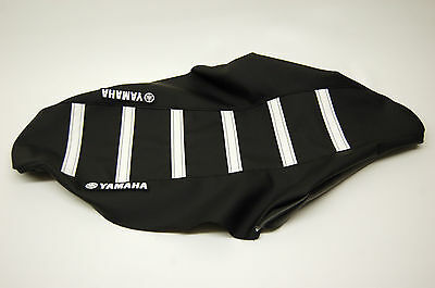 New Yamaha Logo Seat Cover Black/White Ribs YZ250F 2010-2012