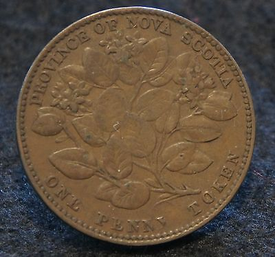 1856 Nova Scotia Mayflower Penny Token in VF Condition Mintage 360,000 NS-6A1!