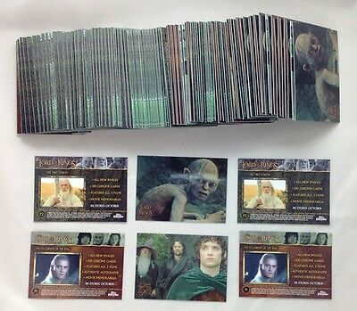 Lot of 75 Sets 2004 Topps Chrome The Lord of The Rings Trilogy P1 P2 Promo Set