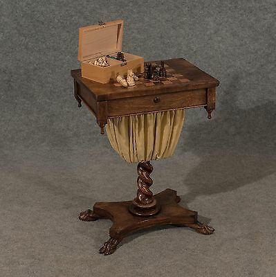 Antique Regency Chess Games Sewing Ladies Work Box Fine Rosewood English c1820 • £695.00