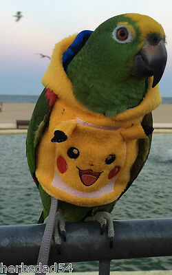 Pokemon Pikachu Parrot Hoodie sizes Petite to Large