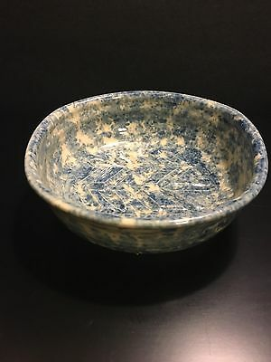 Signed Hand Painted PHIL MORGAN POTTERY Bowl Baking Dish Pattern Inside Signed