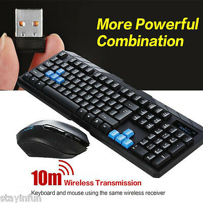 Wireless Keyboard and Mouse Gaming Waterproof USB Receiver Kit for Tablet PC
